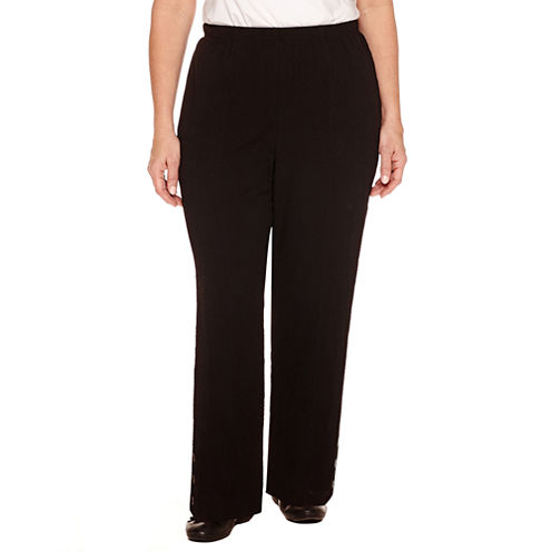 """Alfred Dunner Lace It Up Woven Pull-On Pants-Plus (30"""")"""