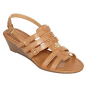 Liz Claiborne® Market Wedge Sandals