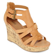 a.n.a® Molly Open-Toe Wedge Sandals