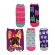 5-pk. Low-Cut Print Socks
