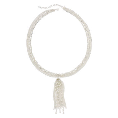 jcpenney.com | Vieste® Simulated Pearl and Tassel Multi-Chain Necklace