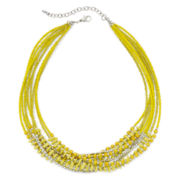 Mixit™ Yellow Seed Bead Multi-Strand Necklace
