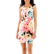 Worthington® Sleeveless Floral Print Sheath Dress - Tall