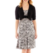 Perceptions Elbow-Sleeve High-Buckle Jacket Dress - Petite