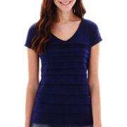 Liz Claiborne® Short-Sleeve Tiered T-Shirt - Tall