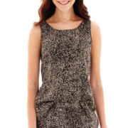 Liz Claiborne® Sleeveless Print Tank Top - Tall