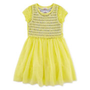 Beautees Lace Popover Dress - Preschool Girls 4-6x