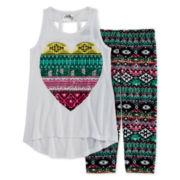 Beautees 2-pc. Heart Tank Top and Leggings Set - Preschool Girls 4-6x