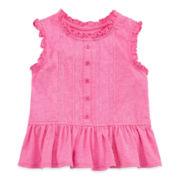 Arizona Lace-Front Peplum Tank Top – Baby Girls newborn-24m