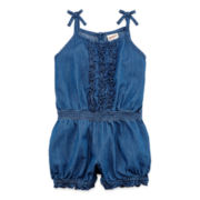 Arizona Chambray Romper – Baby Girls 3m-24m