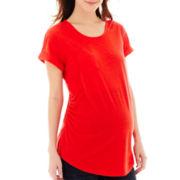 a.n.a® Maternity Short-Sleeve Boyfriend Tee