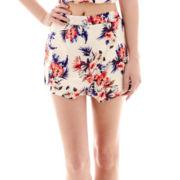 Rewind Tropical Print Skater Skirt