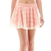 Rewind Aztec Print Lace Skater Skirt