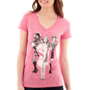 Short-Sleeve Clueless V-Neck T-Shirt