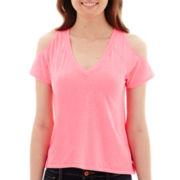 Arizona Short-Sleeve Cold-Shoulder T-Shirt
