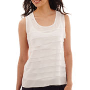 Liz Claiborne® Sleeveless Tiered Blouse