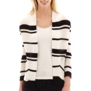 Worthington® 3/4-Sleeve Open-Front Textured Cardigan Sweater