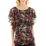 Worthington® Ruffle Sleeve Top