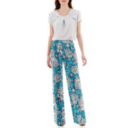 Worthington® Ruffle Blouse or Wide-Leg Soft Pants