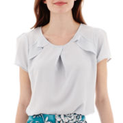 Worthington® Short-Sleeve Ruffle Blouse