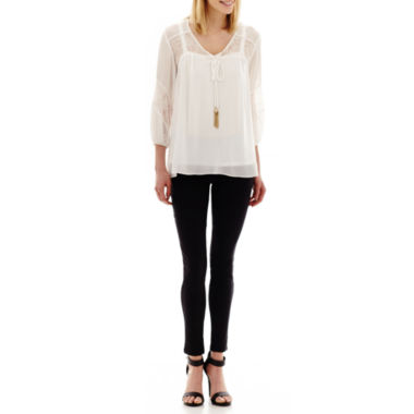 jcpenney.com | Alyx® 3/4-Sleeve Lace-Trim Blouse or Slim Millennium Pants