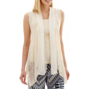 Alyx® Sleeveless Crochet-Detail Wrap Top