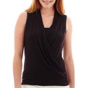 Liz Claiborne® Sleeveless Criss-Cross Tank Top