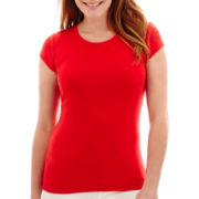 Liz Claiborne® Short-Sleeve Basic Tee