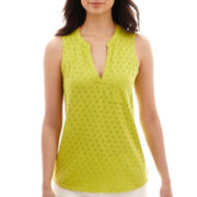 Liz Claiborne® Sleeveless T-Shirt