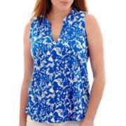 Liz Claiborne® Floral Print Tank Top