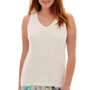 Liz Claiborne® V-Neck Sweater Tank Top