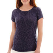 Liz Claiborne® Short-Sleeve Sweatshirt T-Shirt - Tall