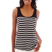 Liz Claiborne® Striped Knit Tank Top