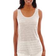 Liz Claiborne® Striped Sweater Knit Tank Top