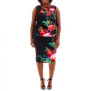 Bisou Bisou® Keyhole Top or High-Waist Print Pencil Skirt - Plus