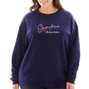 Glitz Grandma Long-Sleeve Sweatshirt - Plus