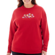 Flower Field Long-Sleeve Sweatshirt - Plus