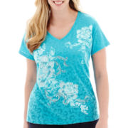 St. John's Bay® Short-Sleeve Burnout Graphic T-shirt - Plus
