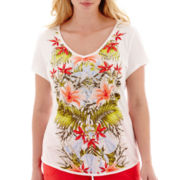 Liz Claiborne® Short-Sleeve Print T-Shirt - Plus