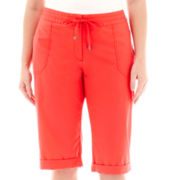 Liz Claiborne® Cargo Cropped Pants - Plus