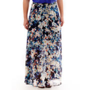 Worthington® Shirred Print Maxi Skirt - Plus