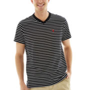 U.S. Polo Assn.® Striped Short-Sleeve V-Neck Tee