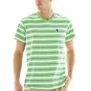 U.S. Polo Assn.® Striped Short-Sleeve V-Neck Tee