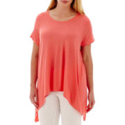 a.n.a® Short-Sleeve High-Low Swing T-Shirt - Plus