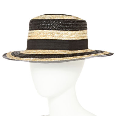jcpenney.com | Studio 36 Striped Boater Brim Hat