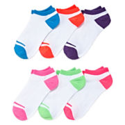 Mixit™ 6-pk. Non-Cushion No-Show Socks - Extended Size