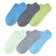 Xersion™ 6-pk. No-Show Twist Liner Socks