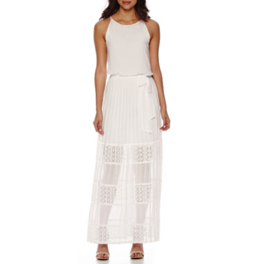 jcpenney.com | Bisou Bisou® Sleeveless Halter Pleated Maxi Dress