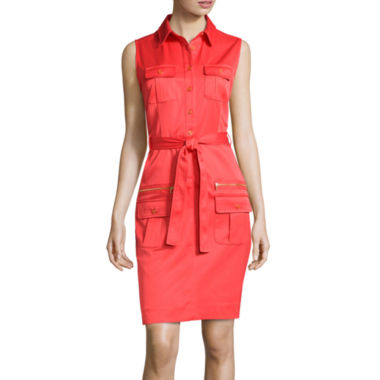 jcpenney.com | Sharagano Sleeveless Self-Tie Shirtdress
