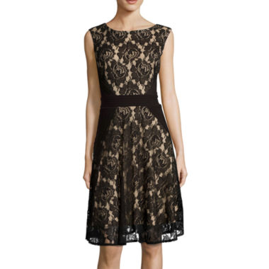 jcpenney.com | Danny & Nicole® Sleeveless Lace Fit-and-Flare Dress